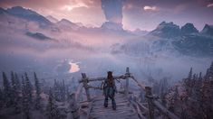 Overlooking the Frozen Wilds [Horizon Zero Dawn]