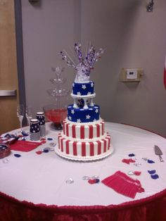 A 4th of July Wedding Cake