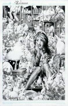 Zatanna 4 by Jay Anacleto , in Kirk Dilbeck's presents: Jay Anacleto Pin Ups Comic Art Gallery Room Comic Book Artists, Comic Book Characters, Comic Artist, Comic Books Art, Dc Comics, Comics Girls, Comics Illustration, Justice League Dark, Comic Art