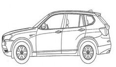 BMW X3 Car Coloring Pages | Free Online Cars Coloring Pages For Kids