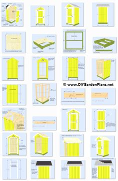 4x4 Garden Tool Shed Plans