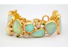 Opal and Gold Bracelet