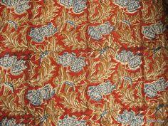 Floral Print Indian Handloom Cotton Kalamkari by theDelhiStore