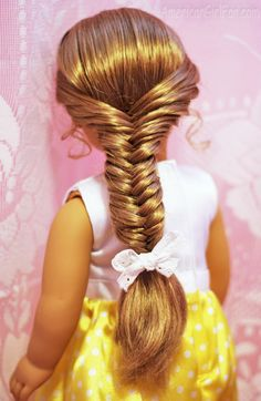 American Girl Hairstyle Fishtail Braid 2