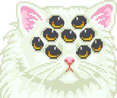 gif cat eyes kawaii kitten not mine smiling pixel art kawaii pixel pastel goth creepy cute Manga Kawaii, Kawaii Art, Cute Pixels, King Kong, Pixel Art Gif, Arte 8 Bits, Foto Gif, Posca Art, 8bit Art
