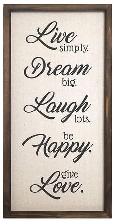 Stratton Home Decor Live, Dream, Laugh, Happy, Love Wall Decor Love One Another Quotes, Wall Decor Online, Love Wall, Graduation Party Decor, Happy Love, Sign Quotes, Family Quotes, Hand Lettering, Favorite Quotes