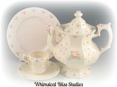 Whimsical Bliss Studios - Lucy's Rosebud Springtime Tea Set