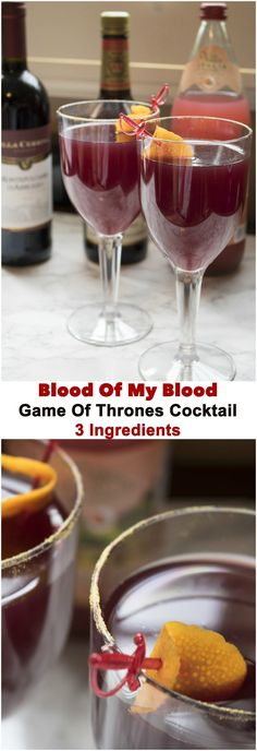Only three ingredients are needed to make this Game of Thrones themed drink!