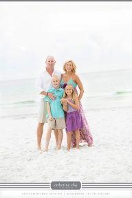 family beach photography ideas - colors
