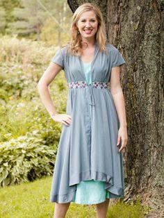 Carmine Ladies Dress   Ladies, Ladies Attic :Beautiful Designs by April Cornell