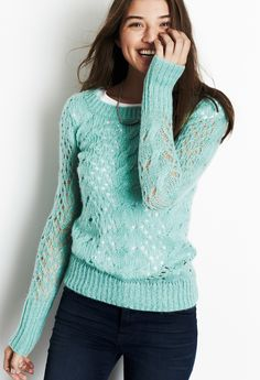 Cora Pointelle Tunic Sweater. I want one in every color :)