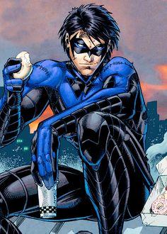 Nightwing. I'll admit I don't read comics, just watch Teen Titans repeats fanatically.