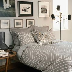 #Duvet cover paired with a crisp white skirt for a tailored look - DP