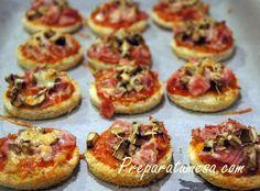 Mini pizzas con pan de molde, las hacia de pequeña y me lo pasaba bomba¡¡¡
