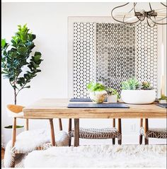 chic dining room #dominehome
