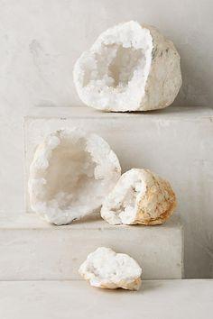 Calcite Geode Pair - anthropologie.com