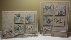 stamp with textured embossing folder