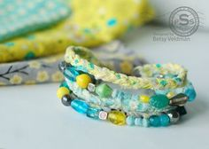 Braided fabric strip bracelet