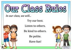 An editable poster that can be used to share your class rules. Also includes a long list of suggested rules.