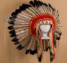 Mission Del Rey Southwest - Antique Style Navajo Ceremonial Headdress- War Bonnet (http://www.missiondelrey.com/antique-style-navajo-ceremonial-headdress-war-bonnet-h7/)