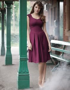 Pepperberry Twill dress. @Hannah Stamps - GREAT clothes for busty girls!!!