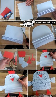 Best Picture For Spring Crafts For Kids printable For Your Taste You are looking for something, and it is going to tell you exactly what. Animal Crafts For Kids, Spring Crafts For Kids, Paper Crafts For Kids, Christmas Crafts For Kids, Toddler Crafts, Diy For Kids, Chicken Crafts, Chicken Art, Chicken Animal
