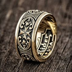 Go for the gold with the Dominion Narrow Band—the newest member of our exclusive gold Jawbone Collection. Men's Jewelry Rings, Cute Jewelry, Jewelery, Jewelry Accessories, Jewelry Design, Man Jewelry, Men's Jewellery, Geek Jewelry, Boho Rings