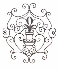 Remarkable Ornate Scroll Design Wrought Iron Wall Decor Panel 434 x 500 · 152 kB · jpeg Wrought Iron Wall Decor, Iron Decor, Porch Doors, Best Iron, Tuscan Decorating, Scroll Design, House Painting, Wall Decorations, Grills