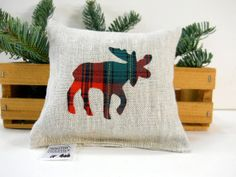 A perfect stocking stuffer! Smells amazing!!! :) Plaid Moose Balsam Fir Sachet in Linen  Maine Balsam by WSDreams, $10.00