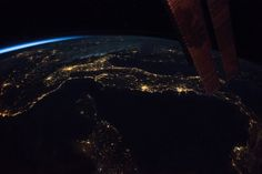 Italy at night from ISS by Paolo Nespoli [xpost r/Italy]