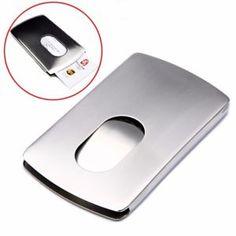 1pcs Wallet Business Stainless Steel Name Credit ID Card Holder Pocket Case..US $2.43