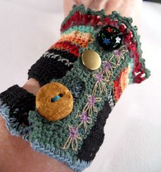 crochet cuff   made by me