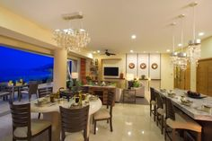 Dining and living in a panorama residence.