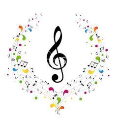 Music logo treble clef and on VectorStock