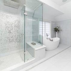✔ 24 Master Bathroom Remodel Ideas On A Budget > Modern Master Bathroom, Small Bathroom, Dream Bathrooms, Beautiful Bathrooms, Bathroom Interior Design, Interior Design Living Room, Douche Design, Custom Homes, Curb Appeal