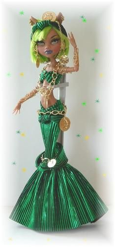 Custom Metallic Green Monster High Egyptian Dress by Cindy Clothing | eBay