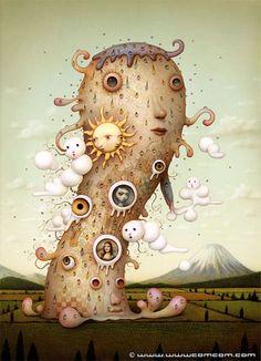 solar_deity - Twisting Reality - surrealism by Naoto Hattori
