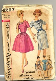 1950's Simplicity Printed Pattern 1 Pattern by TheIDconnection, $22.00
