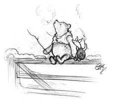 winnie the poo illustration, E. H. Shepard