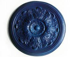 Kunst Wand Skulptur Keramik Rosette Jugendstil Raum Dekoration Projekt Shabby Chic Rosetten blau Art Deco Geschenk moderne Keramik Haus Deko Hello! more: www.etsy.com/de/shop/KunstLABor?ref=hdr_shop_menu