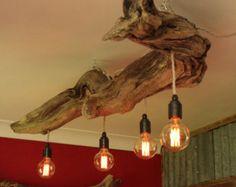 Lampe bois flotté lampe bois rustique Dock par JuliasDriftwood