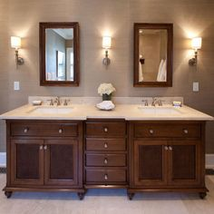 Tropical british colonial for Colonial style bathroom vanities