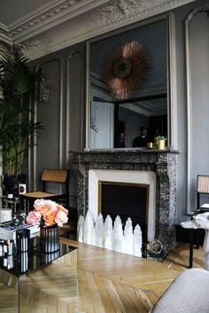 Cheminée Salon Appartement Paris David Chaplain et Alexandre Roussard