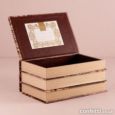 Stacked Antique Book Box - Wishing Well - Confetti.co.uk
