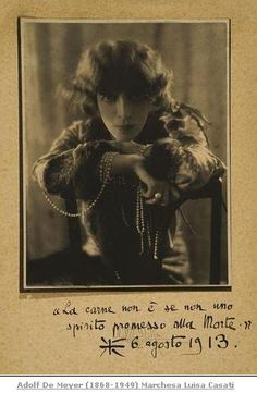Casati with Pearls by Adolf de Meyer, 1912
