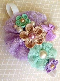 Diadema de menta púrpura diadema de flores de por candybuttonusa