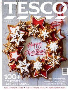 cover of tesco magazine christmas 2016 recipes for summer recipes for spring