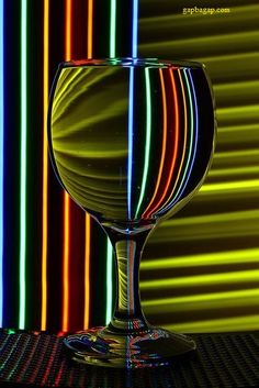 Stunning Picture Of Wine Glass Reflection