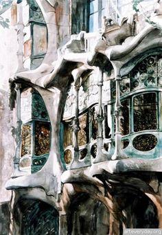 Paul Dmoch Watercolor Barcelona