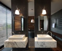 Linear House by Architects EAT #bathrooms #interiors